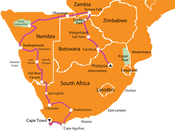 Motorcycle Victoria Falls Route