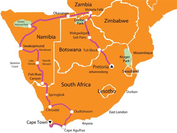 Map Of Africa Victoria Falls.22 Day Victoria Falls Tour Sama Tourssama Tours