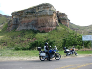 Sandstone rock formations around Clarens