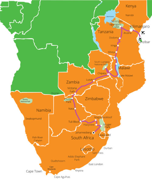 26-Day-Kilimanjaro-to-Johannesburg